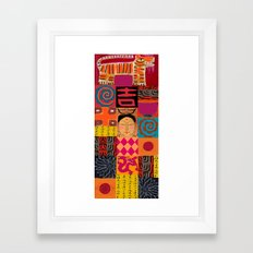 Lady Buddha 2 Framed Art Print