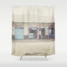 open for business::kenya Shower Curtain