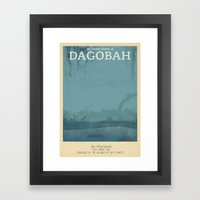 Retro Travel Poster Series - Star Wars - Dagobah Framed Art Print