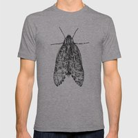 moth Mens Fitted Tee Athletic Grey SMALL