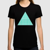 LINES In MINT Womens Fitted Tee Black SMALL