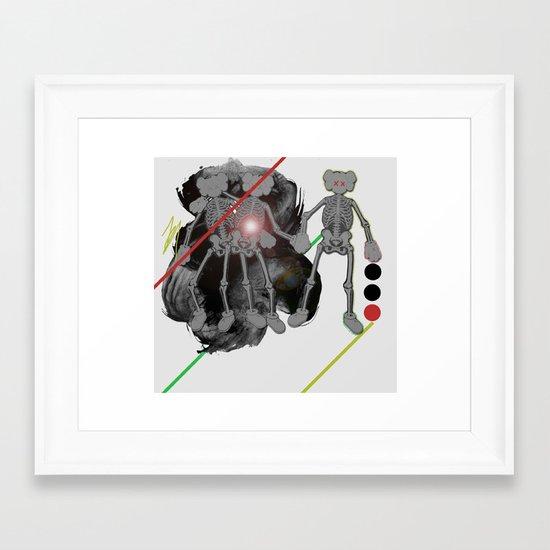 we got skels. Framed Art Print