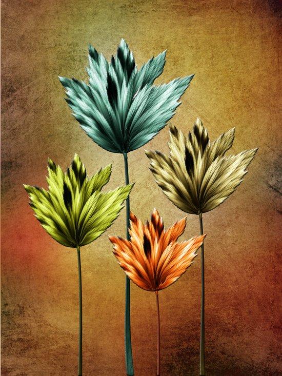 Four Fractal Flowers Canvas Print