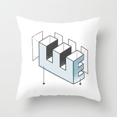 The Exploded Alphabet / E Throw Pillow