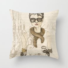 My breakfast at Tiffany's Throw Pillow