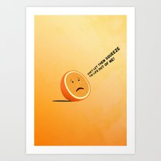 Orange Juice Art Print