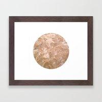 Planetary Bodies - Sand Framed Art Print
