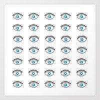All Seeing Evil Eye  Art Print