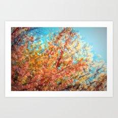 Trippin under a tree Art Print