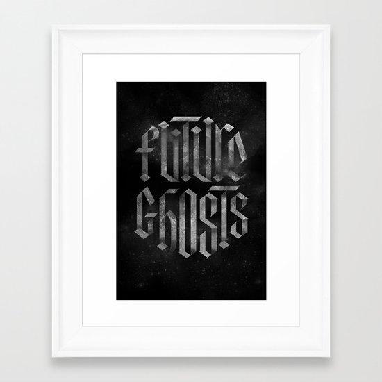 Future Ghosts Framed Art Print