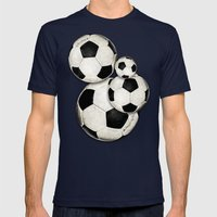Dirty Balls - footballs Mens Fitted Tee Navy SMALL