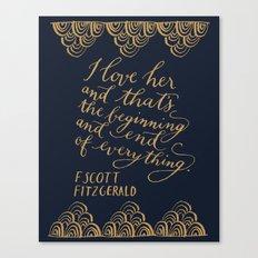 F. Scott Fitzgerald Quot… Canvas Print
