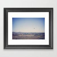 in the distance::denver Framed Art Print