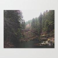 Bridge At Moulton Falls,… Canvas Print
