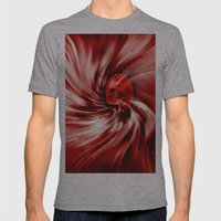 raspberry swirl Mens Fitted Tee Athletic Grey SMALL