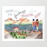 Adventure Buddy Art Print