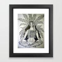 Indian War Chief  Framed Art Print