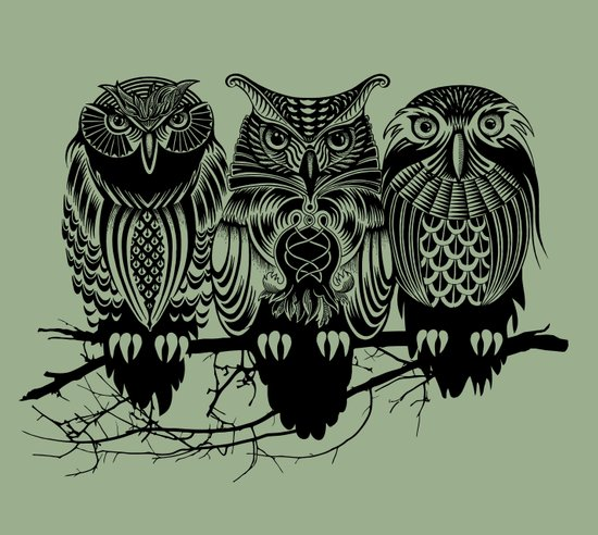 Owls of the Nile Art Print