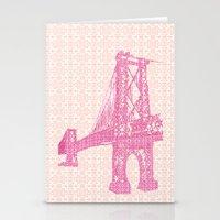 Williamsburg Bridge illustration Stationery Cards