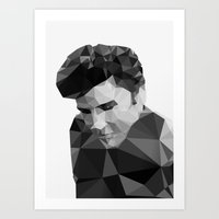 Elvis Presley - Digital … Art Print