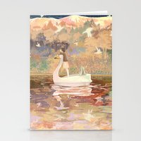 Swan boat Stationery Cards