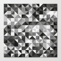pillow pattern bw #2 Canvas Print