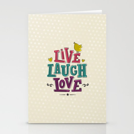 live laugh love Stationery Card