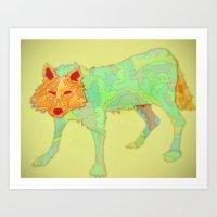 Wolf Collaboration Art Print