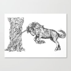 Unicorn and the Tree Canvas Print