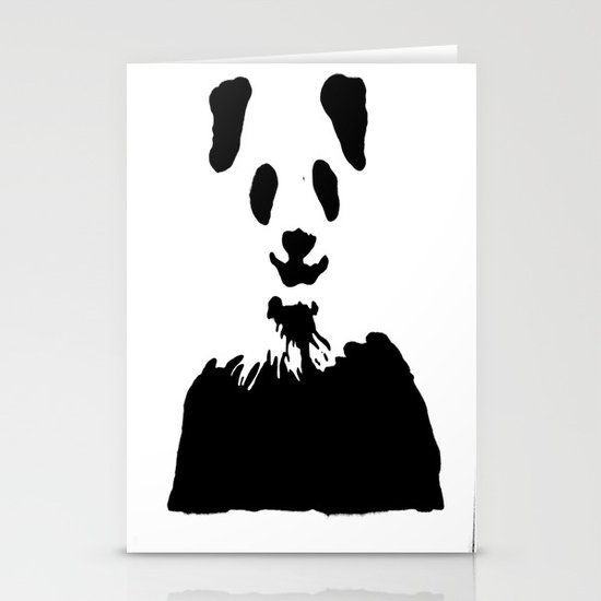 Pandas Blend into White Backgrounds Stationery Card