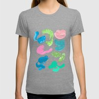 United Cats Of Colour Womens Fitted Tee Tri-Grey SMALL