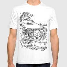 Indian Chief 1948 SMALL Mens Fitted Tee White