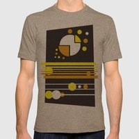 Abstract Geometric Earth… Mens Fitted Tee Tri-Coffee SMALL
