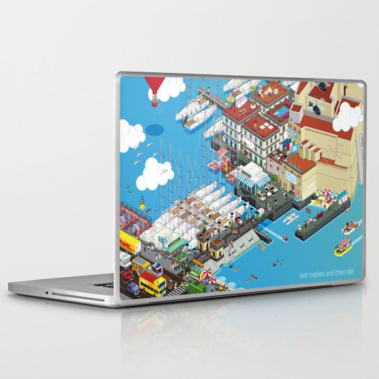 see Naples and then die! Laptop & iPad Skin