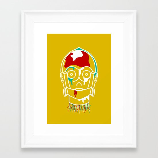 Galactic Decapitations #1 - Droid Framed Art Print
