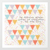 The Difference Between..… Art Print