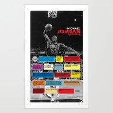 Michael Jordan's Spor Career. Art Print