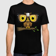 The Little Wise One SMALL Mens Fitted Tee Black