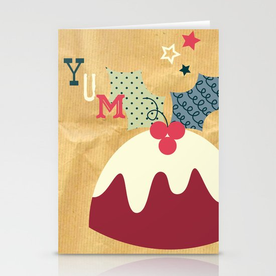 Yummy Christmas Pudding! Stationery Card