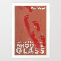Die Hard - Shoot the Glass Art Print