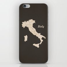 Italy Map iPhone & iPod Skin