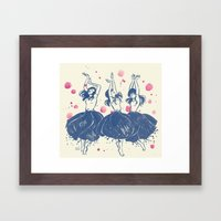 Dancing Poppies Framed Art Print