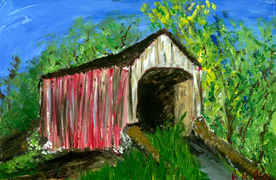 Erwinna Covered Bridge  Canvas Print
