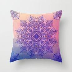 Mild Mandala Throw Pillow