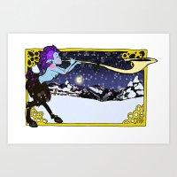 Art Print featuring Winter Faun by Rachel M. Loose