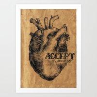 Accept / Except  Art Print