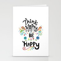Think Happy Be Happy Stationery Cards