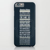 iPhone & iPod Case featuring Sherlock - The Great Consulting Detective. by Adam James
