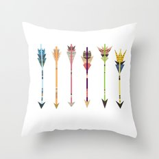 Arrow Collage Throw Pillow