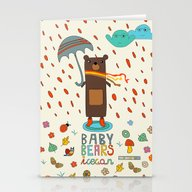 Baby Bears Icecar Stationery Cards